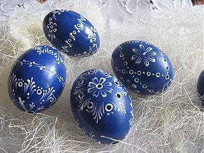 Dekorácie - Kraslice madeira modra - 1053594