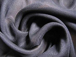 Textil - Hodváb 100%, čierny. - 1061687