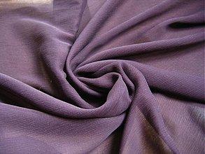 Textil - Šifón, 100% hodváb, tmava višňa - 1062136