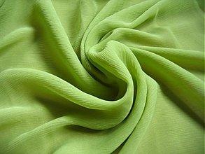 Textil - 100% hodvábny šifón, jablková/limetková farba - 1062166
