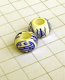 Korálky - porcelánová s veľkou dierkou/ 1 ks - 1062174