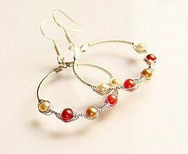 Náušnice - Gold n' Orange - 1064665