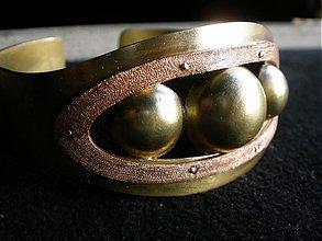 Náramky - 3 gule - náramok z mosadze - 1065213
