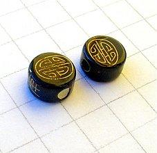 Korálky - porcelánová korálka 11 mm/ 1 ks - 1065608