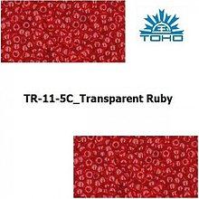Korálky - T001 TOHO rokajl 11/0 Transparent Ruby - 1068855