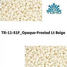 Korálky - T008 TOHO rokajl 11/0 Opaque-Frosted Lt Beige - 1068895