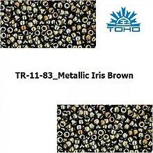 Korálky - T010 TOHO rokajl 11/0 Metallic Iris Brown - 1068906