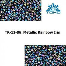 Korálky - T011 TOHO rokajl 11/0 Metallic Rainbow Iris - 1068910