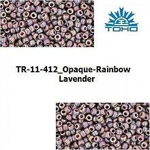 Korálky - T032 TOHO rokajl 11/0 Opaque-Rainbow Lavender, 10 g - 1068964