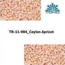 Korálky - T035 TOHO rokajl 11/0 Ceylon Apricot - 1068971