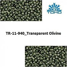 Korálky - 638-T037 TOHO rokajl 11/0 Transparent Olivine - 1068973