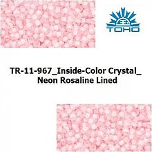 Korálky - 656-T038 TOHO rokajl 11/0 Inside-Color Crystal_Neon Rosaline Lined - 1068974