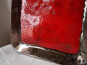 Svietidlá a sviečky - miska, svietnik červený ... som ohnivozlatá..... - 1069196