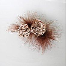Ozdoby do vlasov - Veľký štipec-kapučíno - 1075170