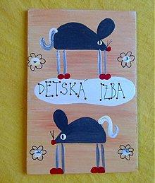 Tabuľky - menovka na dvere -DETSKÁ IZBA - 1079642