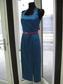 Šaty - Saténový sen modré - 1082367
