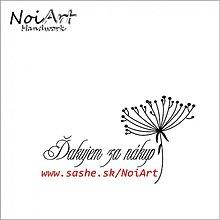 Drobnosti - Razítko Ďakujem za nákup Súkvetie - 1083230