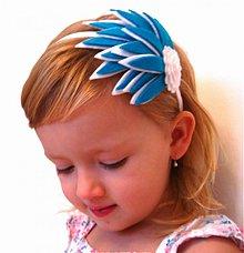 Ozdoby do vlasov - Modro-biela - 1084211