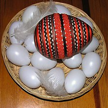Dekorácie - Velikonoční vejce XXL - oranžovo-hnědé - 1084258