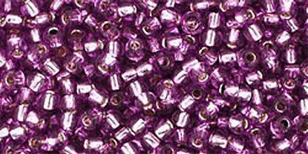 Korálky - Rokajl TOHO Round 11/0 - svetlá hroznová so strieborným prieťahom/ 10g - 1085099