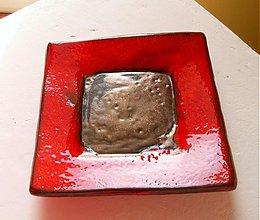 Svietidlá a sviečky - svietnik červený - 1085297