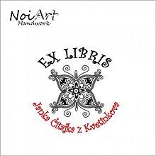 Drobnosti - Razítko EX LIBRIS motýlik - 1087005