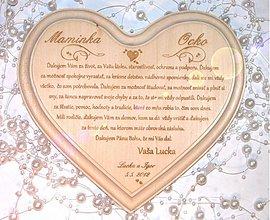 Tabuľky - Poďakovanie rodičom - veľké lipové - Ornaments AKCIA - 1087431