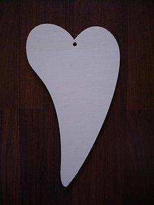 Materiál ručne robený - Drevené srdce 2 - 1088145