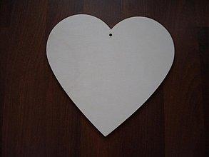 Materiál ručne robený - Srdce 18x18 cm - 1088163