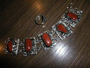 Náramky - Jaspis červený_OB - 1094385