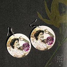 Náušnice - Náušnice Lejdy Nostalgia (plastové) - 1099570
