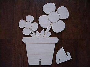 Tabuľky - Kvety v kvetináči + stojan - 1101524