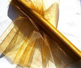 Textil - organza zlatá š.48cm!!! - 1105483