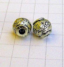 Korálky - kovová korálka 11 mm/ 1ks - 1106858