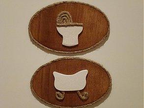 Tabuľky - Tabuľka WC,Kúpeľňa - špagátová - 1119413