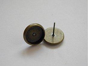 Komponenty - Puzeta - lôžko kruh - starobrondz -10mm -1 pár (Pu510) - 1120322