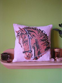 Úžitkový textil - vankúš  (kôň) - 1128878