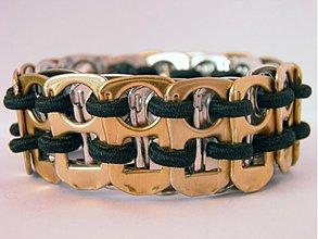 Náramky - Plechovkáč v zlato-čiernom - 1129684