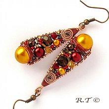 Náušnice - Náušnice Indian saffron... - 1133454