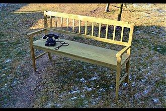 Nábytok - zelená lavička - 1134616