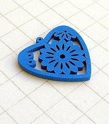 Polotovary - drevené srdce 3 cm/ 1 kus - 1138219
