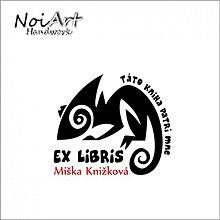 Drobnosti - Razítko EX LIBRIS chameleon - 1139058