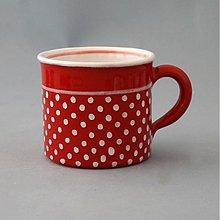 Nádoby - Kafáč 8 cm puntík - červený, cca 0,3 l - 1144124