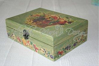 Krabičky - krabička košík s ovocím - 1147741