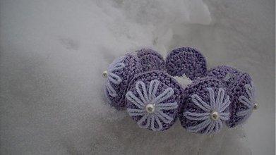 Náramky -  margarétka v snehu - náramok - 1151489
