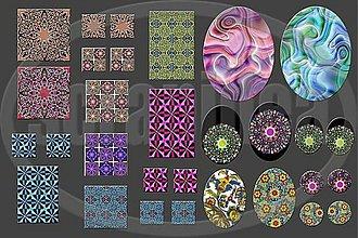 Materiál ručne robený - Motívy na šperky č.7-akcia 4+1 zdarma na všetky motívy - 1153921