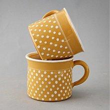 Nádoby - Kafáč  8 cm puntík - žlutý, cca 0,3 l - 1155190