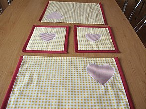 Úžitkový textil - prestieranie so srdiečkom - 1155708