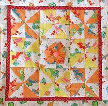 Úžitkový textil - Detský quilt s fotkami - ukážka vzoru - 1158671