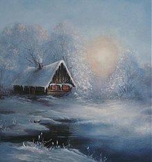 Obrazy - Chalúpka pri jazere - 1159267